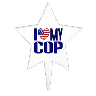 I Love My Cop Cake Topper