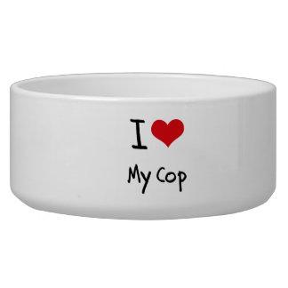 I love My Cop Pet Bowls