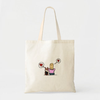 I love my corgi and my corgi loves me. Series #4 Tote Bag