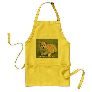 I LOVE MY CORGI APRON