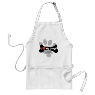I Love My Corgi - Dog Bone Standard Apron