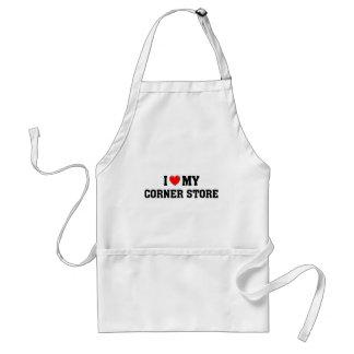 I love my corner store. adult apron