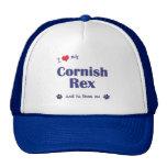 I Love My Cornish Rex (Male Cat) Hat