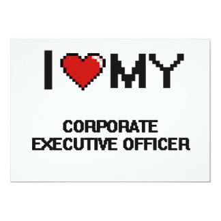 "I love my Corporate Executive Officer 5"" X 7"" Invitation Card"