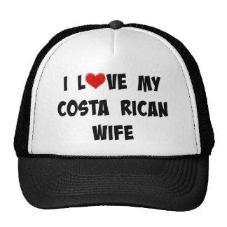 I Love My Costa Rican Wife Cap