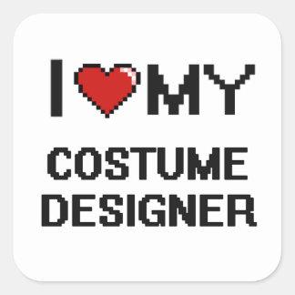 I love my Costume Designer Square Sticker