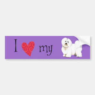 I Love my Coton de Tulear Bumper Sticker