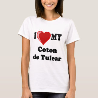 I Love My Coton De Tulear Dog T-Shirt