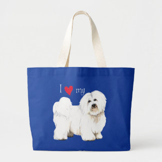 I Love my Coton de Tulear Large Tote Bag