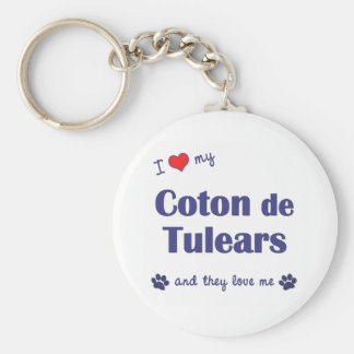 I Love My Coton de Tulears (Multiple Dogs) Key Ring