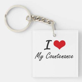 I love My Countenance Single-Sided Square Acrylic Key Ring