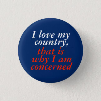 I love my country 3 cm round badge