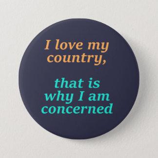 I love my country 7.5 cm round badge
