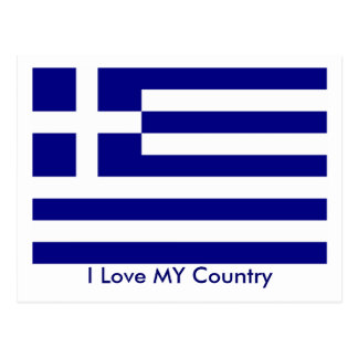 I Love MY Country Greece Flag The MUSEUM Zazzle Postcard