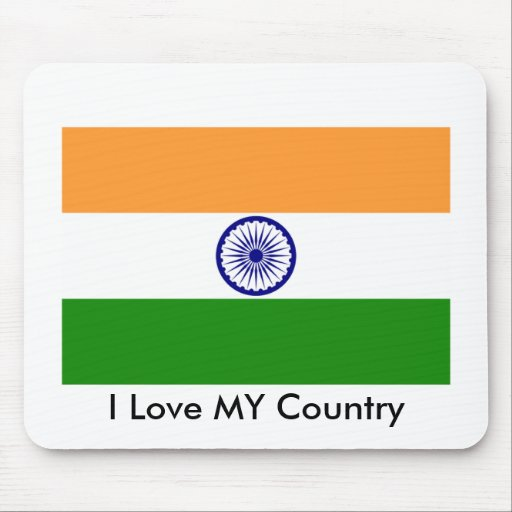 I Love My Country India Mousepads Zazzle