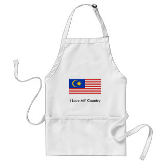 I Love MY Country Malaysia FlagnThe MUSEUM Zazzle Apron