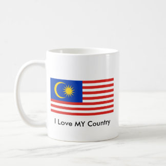 I Love MY Country Malaysia FlagnThe MUSEUM Zazzle Basic White Mug
