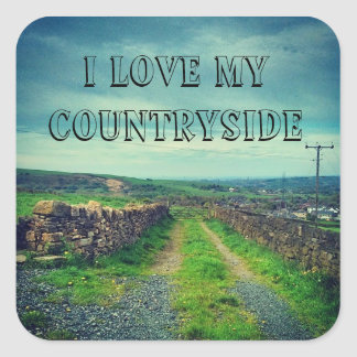 I love my countryside square sticker