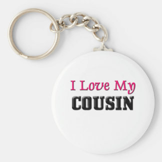 I Love My Cousin Keychain