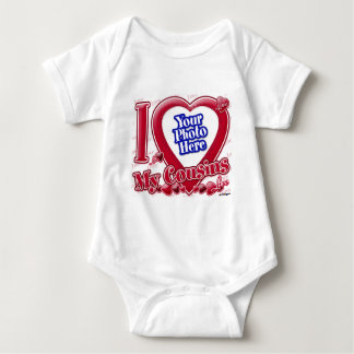 I Love My Cousins red heart - photo Baby Bodysuit