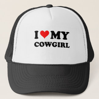 I Love My Cowgirl Trucker Hat