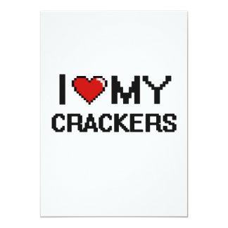 I Love My Crackers Digital design 13 Cm X 18 Cm Invitation Card