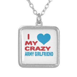 I Love My Crazy Army Girlfriend. Custom Necklace
