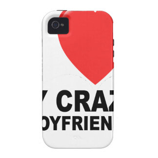 I LOVE my CRAZY Boyfriend Women s T-Shirts png Case-Mate iPhone 4 Case