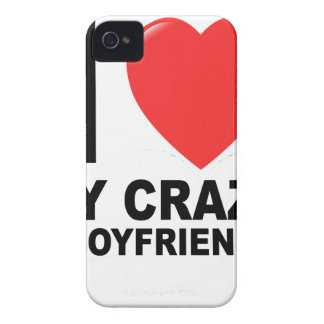 I LOVE my CRAZY Boyfriend Women's T-Shirts.png Case-Mate iPhone 4 Cases