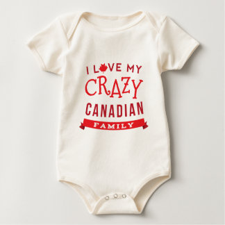 I Love My Crazy Canadian Family Reunion T-Shirt] Baby Bodysuit