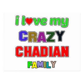 I love my crazy Chadian Family Postcard