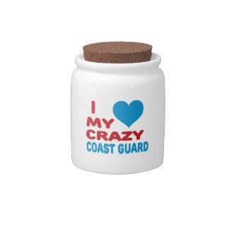I Love My Crazy Coast Guard. Candy Jars