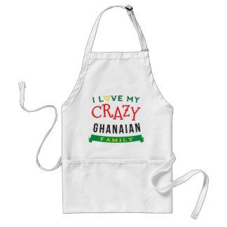 I Love My Crazy Ghanaian Family Reunion T-Shirt Id Standard Apron