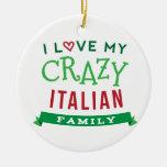 I Love My Crazy Italian Family Reunion T-Shirt Ide Christmas Tree Ornament