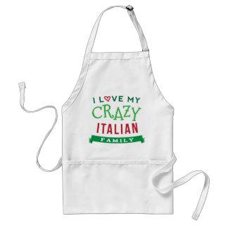 I Love My Crazy Italian Family Reunion T-Shirt Ide Standard Apron