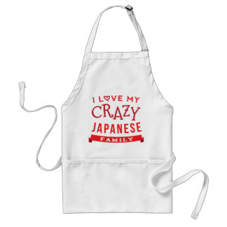 I Love My Crazy Japanese Family Reunion T-Shirt Id Standard Apron