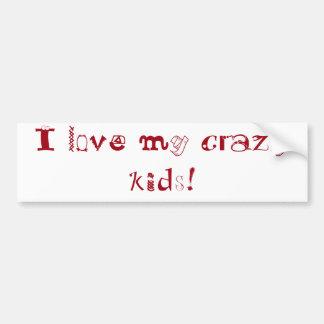 I love my crazy kids! bumper sticker