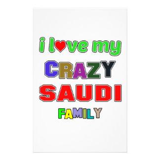 I love my crazy Saudi Family Personalised Stationery