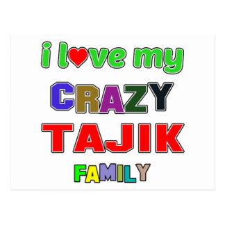 I love my crazy Tajik Family Postcard