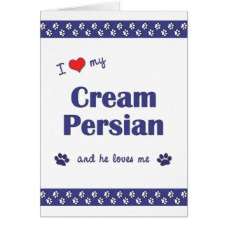 I Love My Cream Persian (Male Cat) Note Card