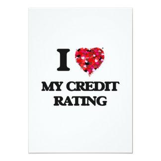 I love My Credit Rating 13 Cm X 18 Cm Invitation Card
