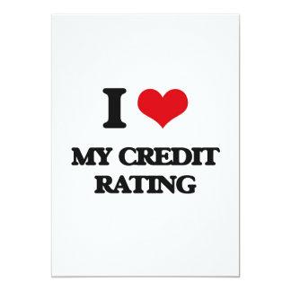 I love My Credit Rating 5x7 Paper Invitation Card