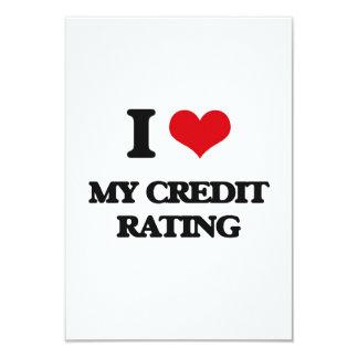 "I love My Credit Rating 3.5"" X 5"" Invitation Card"