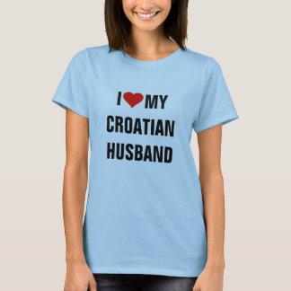 I Love My Croatian Husband T-Shirt