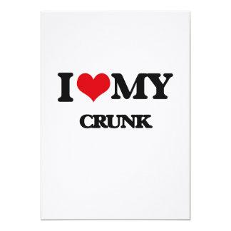 I Love My CRUNK Personalized Invite
