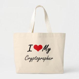 I love my Cryptographer Jumbo Tote Bag