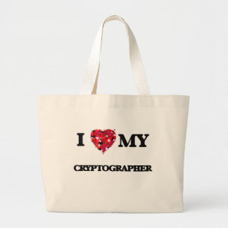 I love my Cryptographer Jumbo Tote Bag