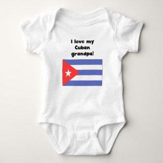 I Love My Cuban Grandpa Baby Bodysuit