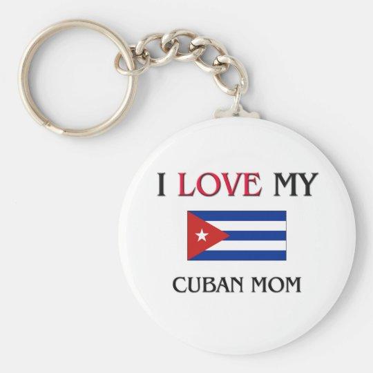 I Love My Cuban Mum Key Ring