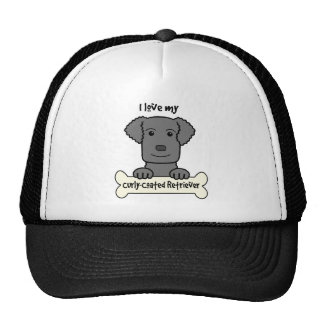 I Love My Curly-Coated Retriever Cap